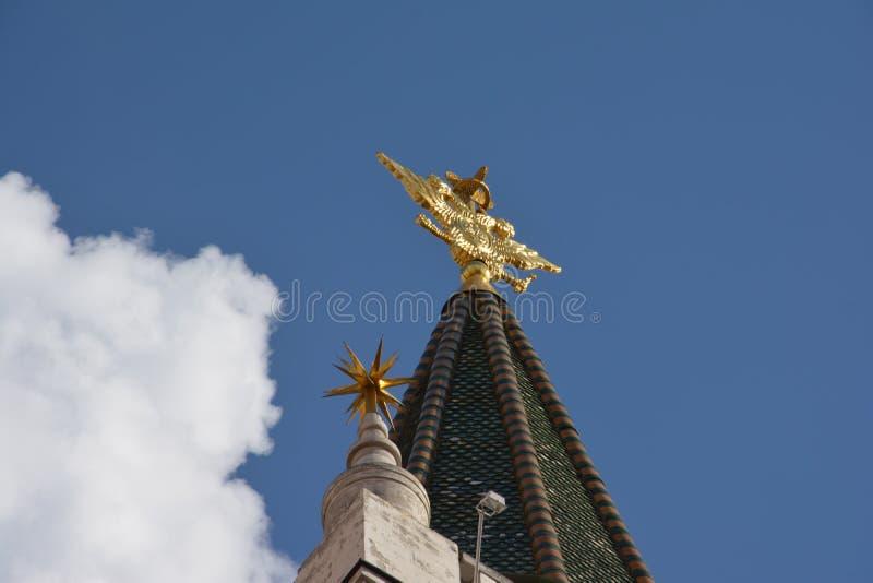 Architectuur, hemel, Rusland, Simbol, spits, torenspits, Moskou stock afbeelding