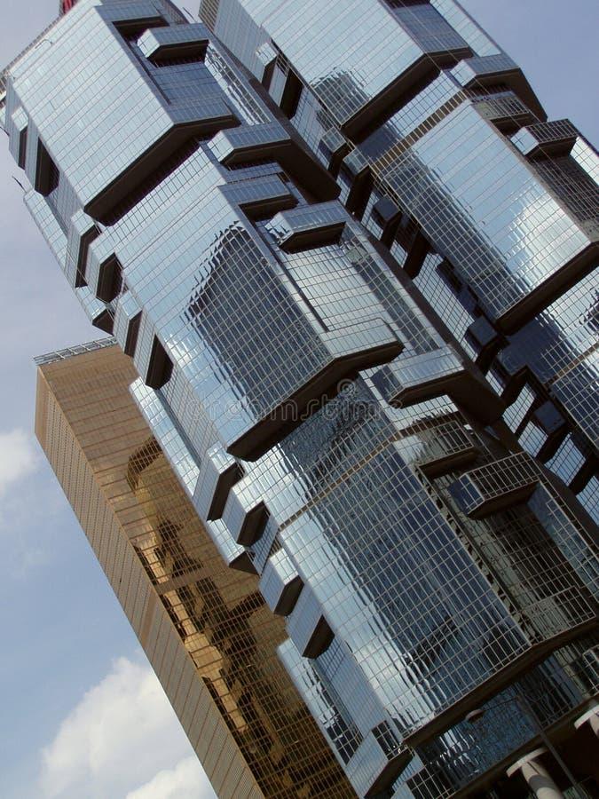 Architectuur Hongkong stock afbeelding