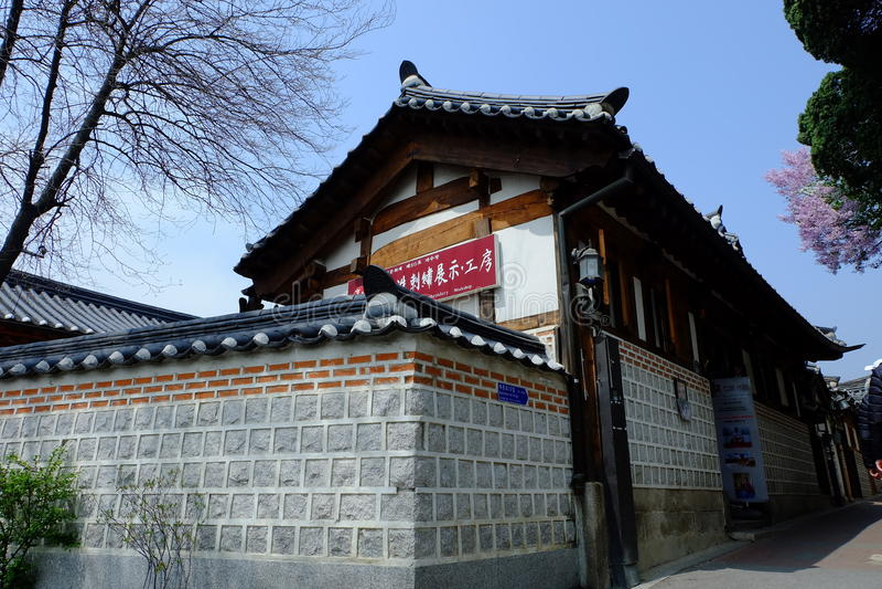 Architectuur in Korea royalty-vrije stock foto's
