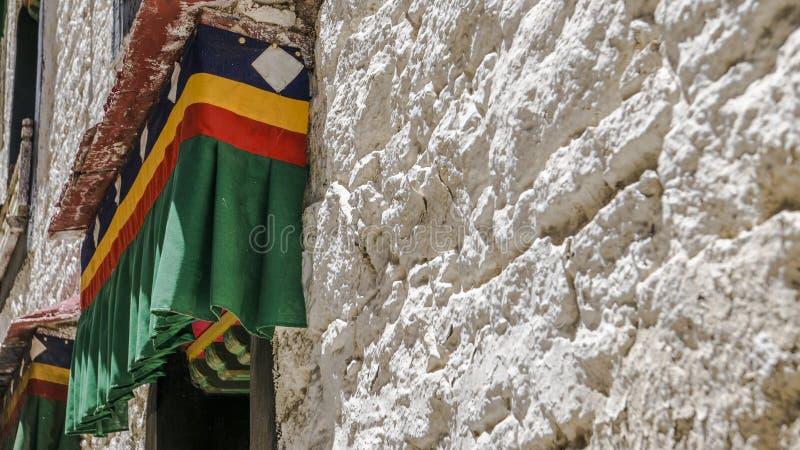 Architectuur in Lhasa royalty-vrije stock foto