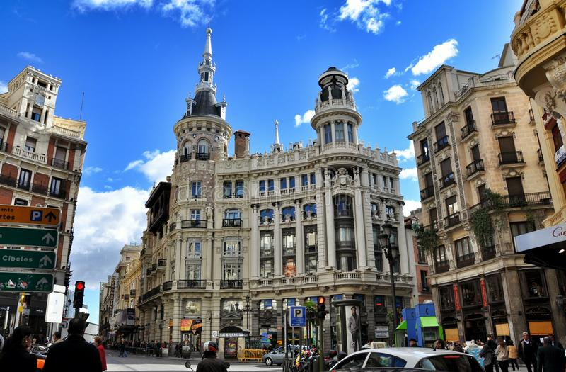 Architectuur in Madrid, Spanje stock fotografie