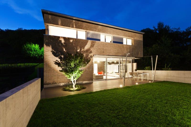 Architectuur modern ontwerp, huis, openlucht stock afbeeldingen