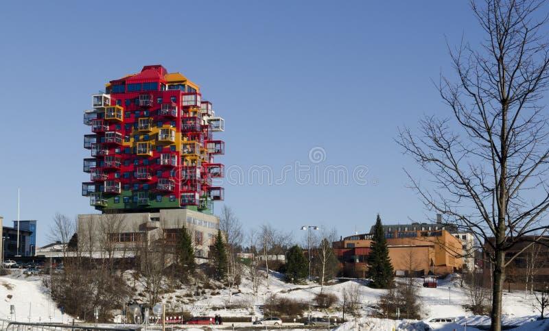 Architectuur in Ornskoldsvik royalty-vrije stock foto