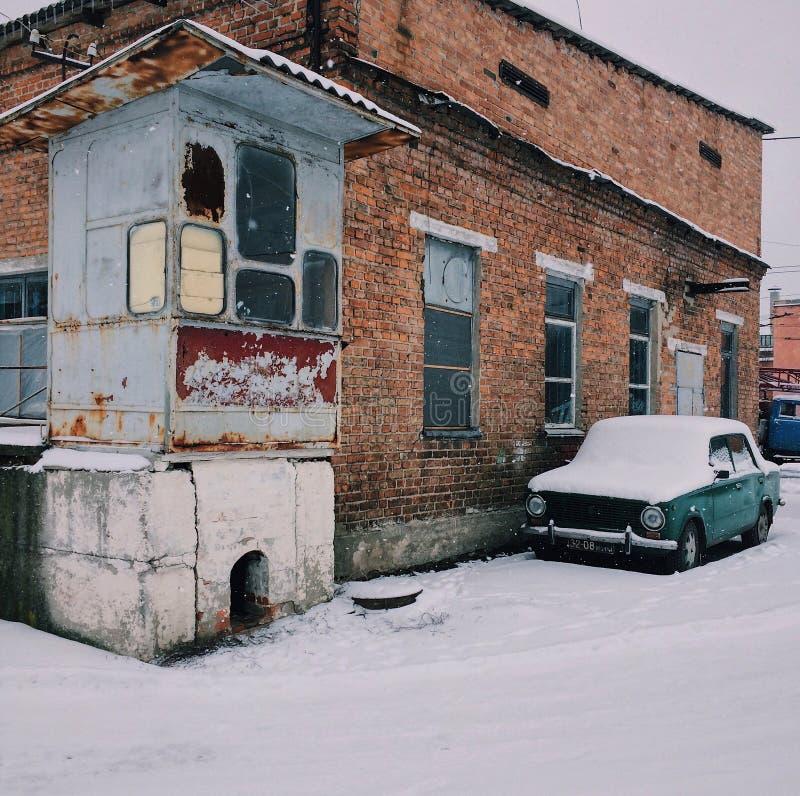 Architectuur oude auto royalty-vrije stock fotografie