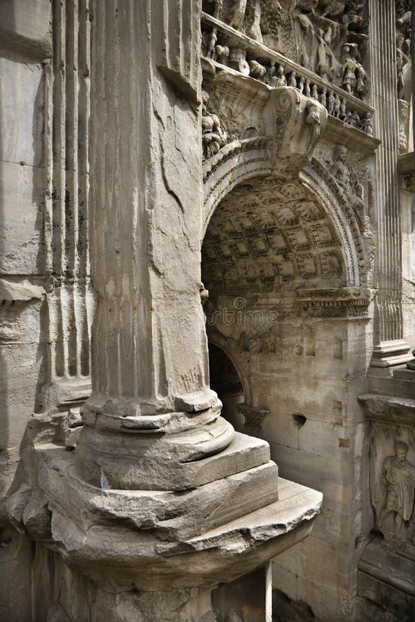 Architectuur in Rome, Italië. stock foto