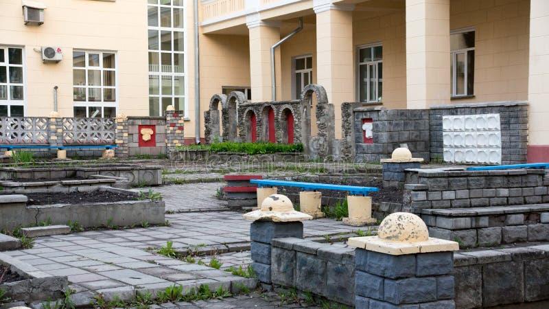 Architectuur Siberische stad (megalopolis) Novosibir royalty-vrije stock afbeeldingen