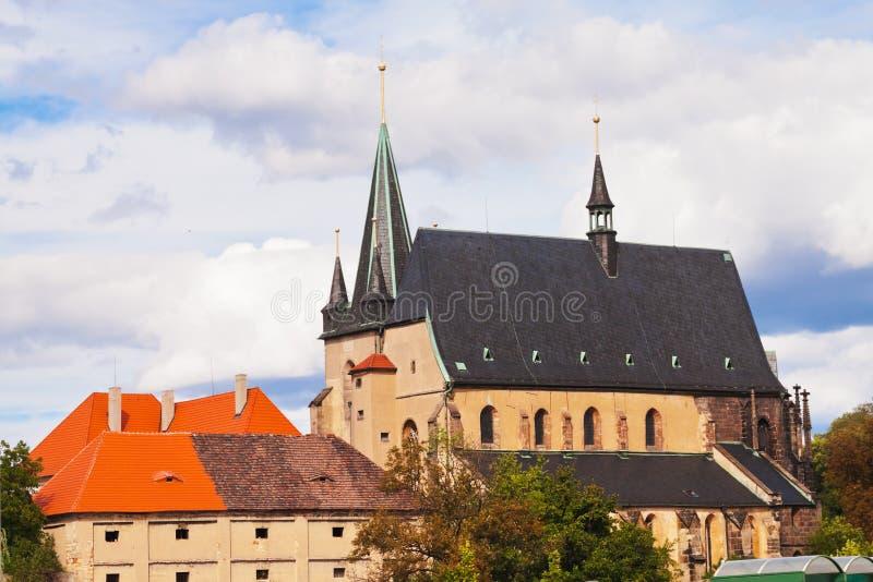 Architectuur in Slany - Tsjechische republiek stock foto
