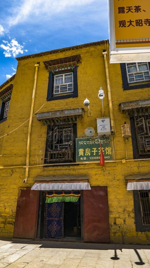 Architectuur in Tibet stock foto's