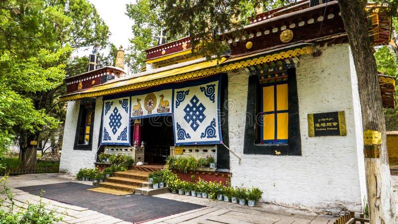 Architectuur in Tibet stock afbeeldingen