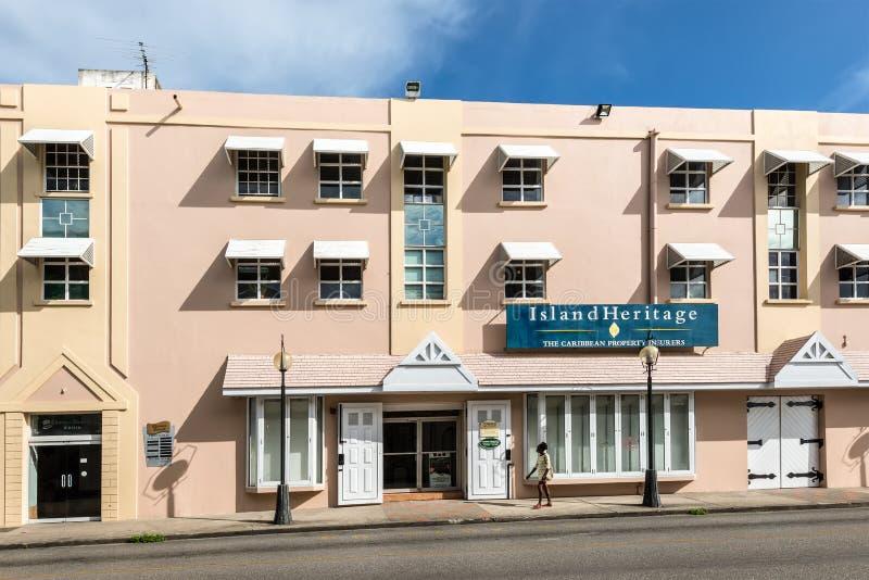 Architectuur van Bridgetown, Caraïbische Barbados, royalty-vrije stock fotografie