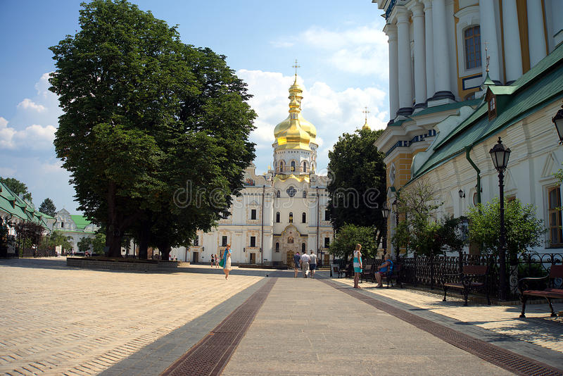 Architectuur van de Oekraïne De stad van Kyiv stock afbeeldingen