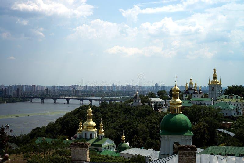 Architectuur van de Oekraïne De stad van Kyiv royalty-vrije stock foto's