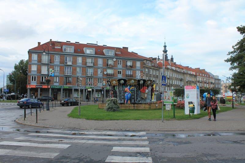 Architectuur van de oude stad Gdansk Polen royalty-vrije stock foto's