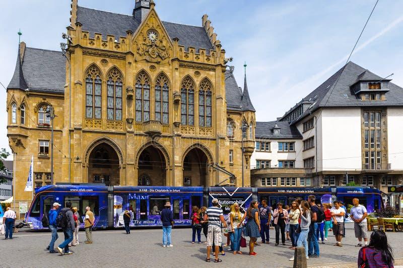 Architectuur van Erfurt, Duitsland stock foto's
