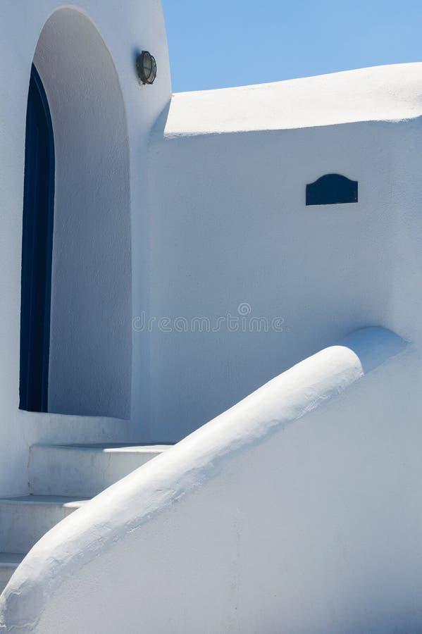 Architectuur van Grieks huis royalty-vrije stock afbeelding