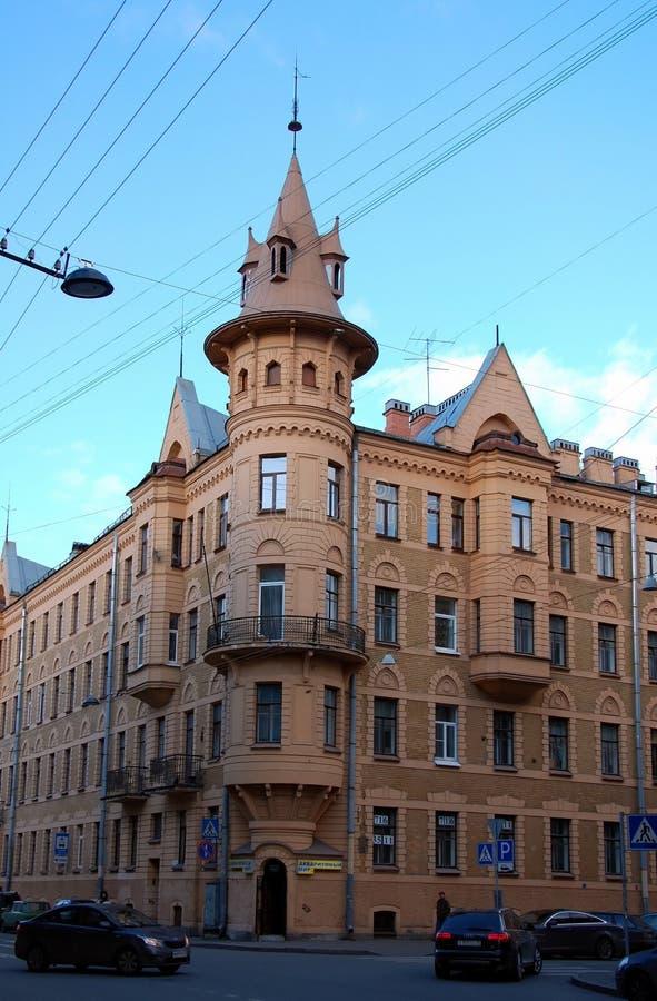 Architectuur van Heilige Petersburg, Rusland stock foto