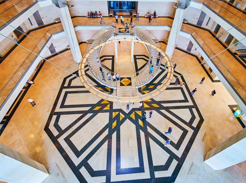 Architectuur van Islamitisch Art Museum, Doha, Qatar royalty-vrije stock afbeeldingen