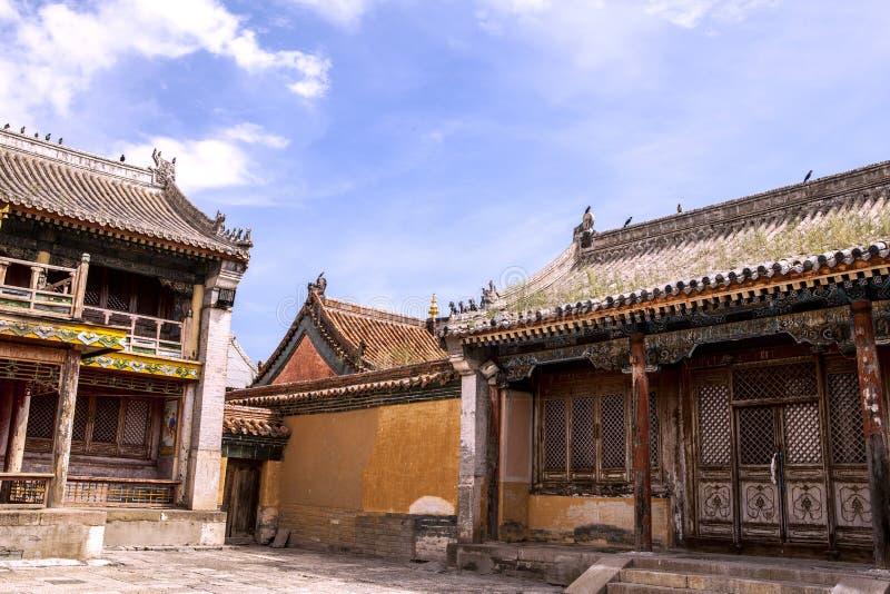Architectuur van Klooster in Mongolië stock afbeelding