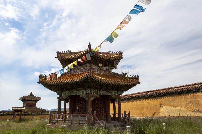 Architectuur van Klooster in Mongolië royalty-vrije stock afbeelding