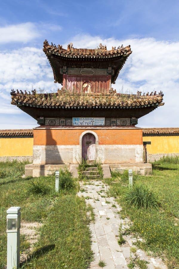 Architectuur van Klooster in Mongolië stock foto