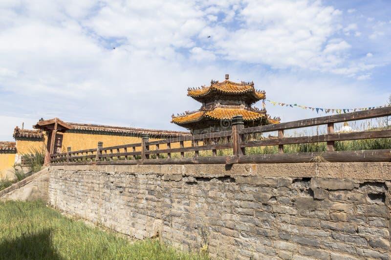Architectuur van Klooster in Mongolië stock fotografie