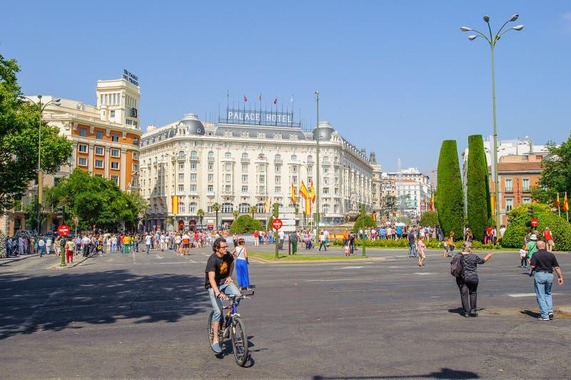 Architectuur van Madrid, Spanje stock afbeelding