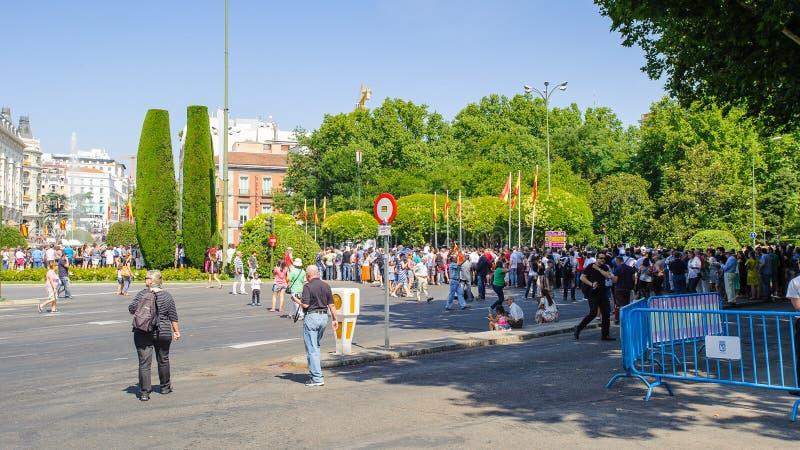 Architectuur van Madrid, Spanje stock foto's