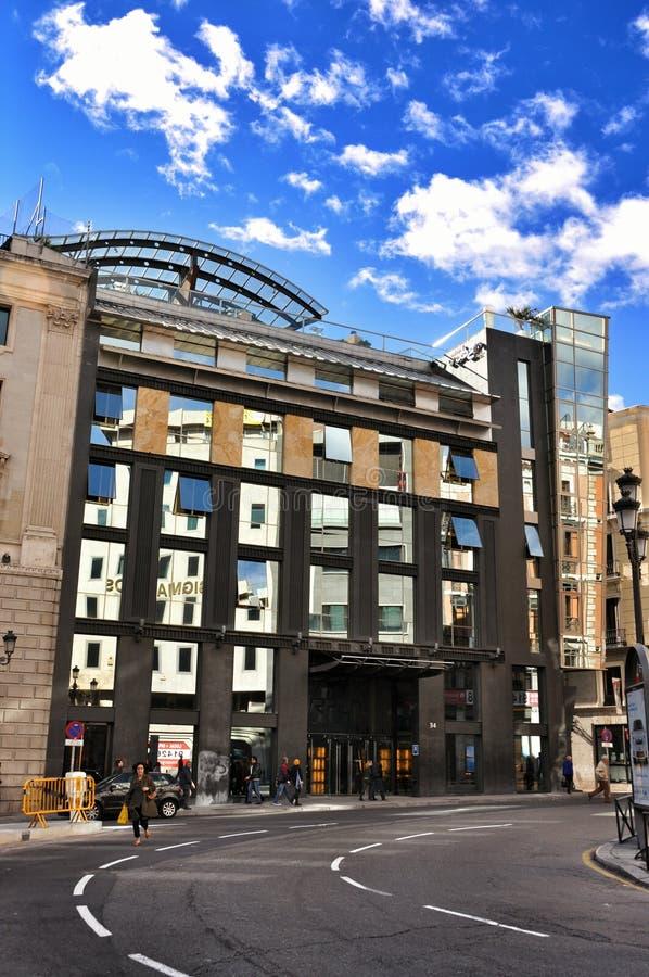 Architectuur van Madrid, Spanje stock fotografie