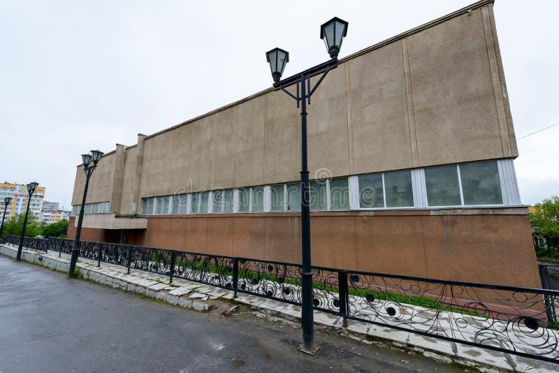 Architectuur van Magada, Russische Federatie stock fotografie