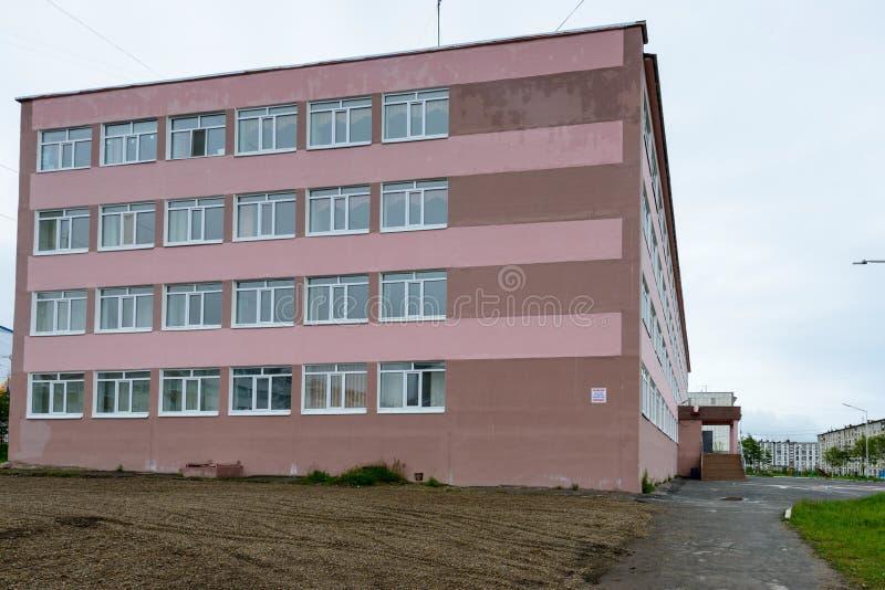 Architectuur van Magada, Russische Federatie stock afbeelding