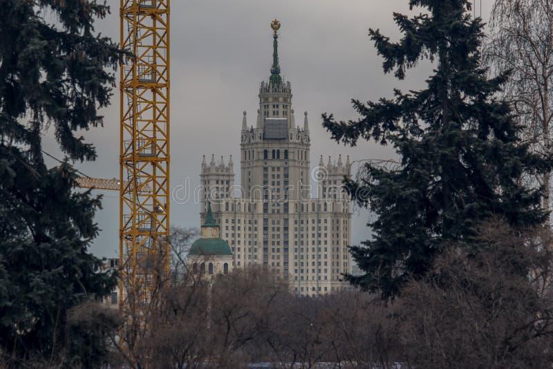 Architectuur van Moskou royalty-vrije stock afbeelding