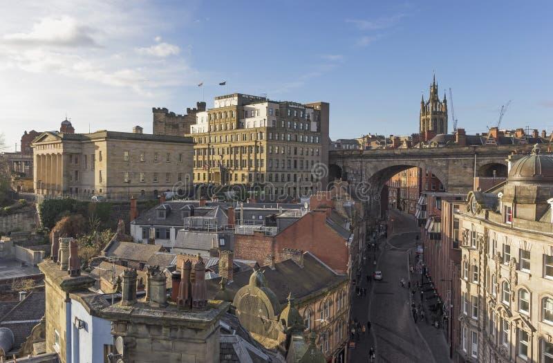 Architectuur van Newcastle op de Tyne, het UK royalty-vrije stock foto's