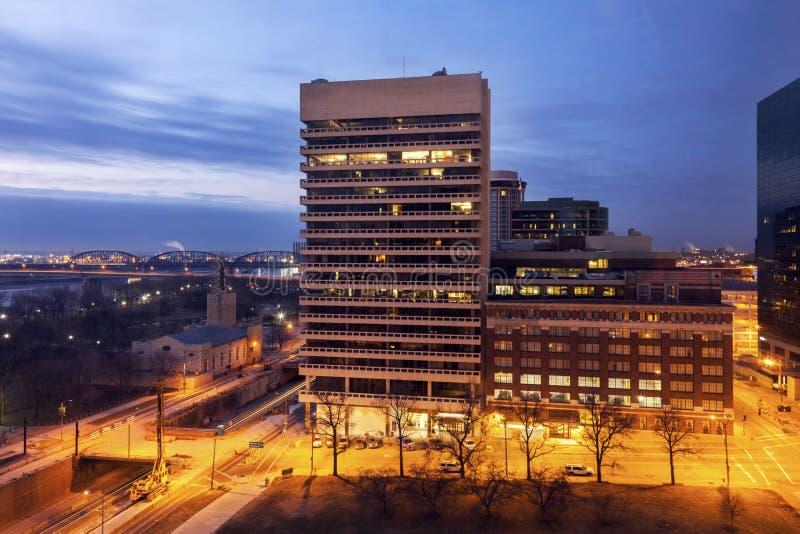 Architectuur van St.Louis bij zonsopgang royalty-vrije stock foto