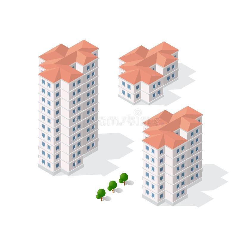 Architectuur van stedelijke bouw stock illustratie