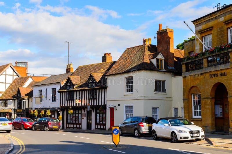 Architectuur van Stratford op Avon, Engeland, het Verenigd Koninkrijk stock fotografie