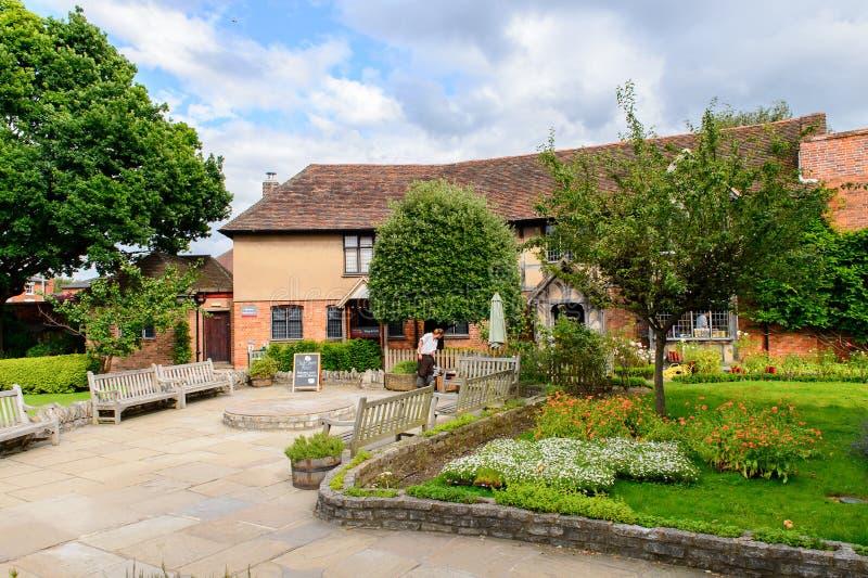 Architectuur van Stratford op Avon, Engeland, het Verenigd Koninkrijk stock foto's