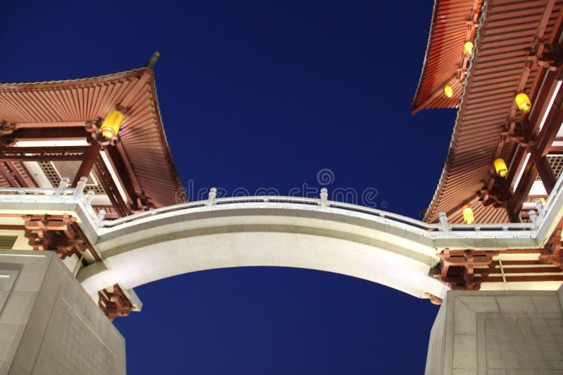 Architectuur van Tang Paradiseï ¼ ŒXian stock fotografie