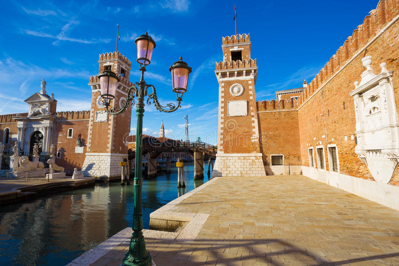 Architectuur van Venetië Italië stock foto's