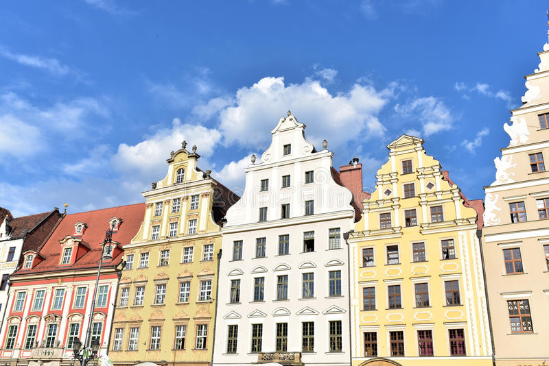 Architectuur van Wroclaw royalty-vrije stock afbeeldingen