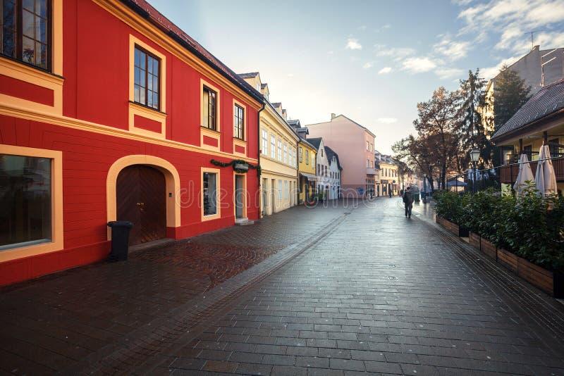 Architectuur van Zagreb Kroatië stock foto's