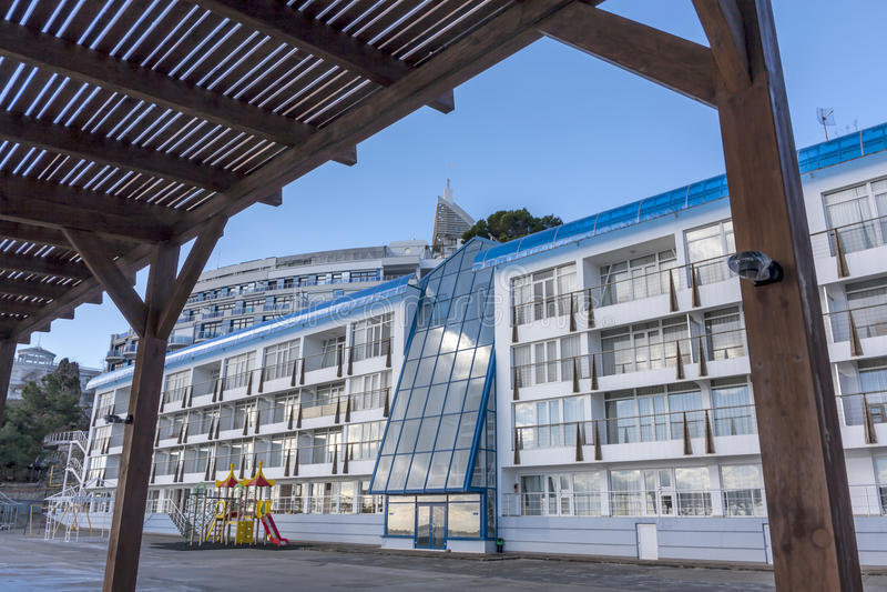 Architectuur in yalta de Oekraïne royalty-vrije stock afbeelding
