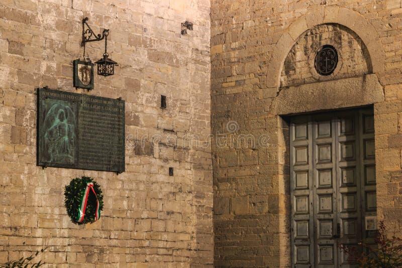 Architectuurdetail van de Romaanse basiliek Heilige Jacob in B royalty-vrije stock fotografie