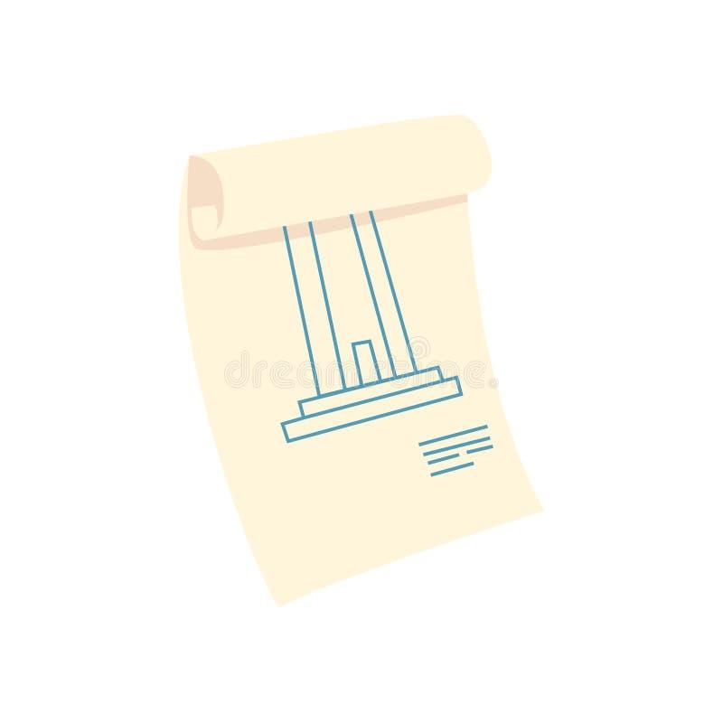 Architectuurplan, bouwhuis, het beeldverhaal vectorillustratie van het reparatiewerk vector illustratie