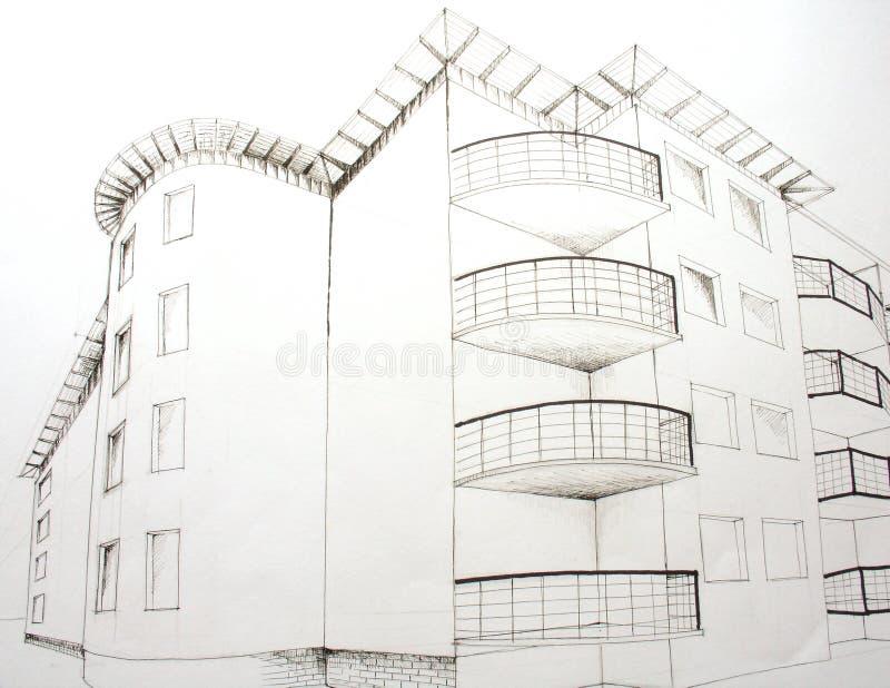 Architecural plan stock image