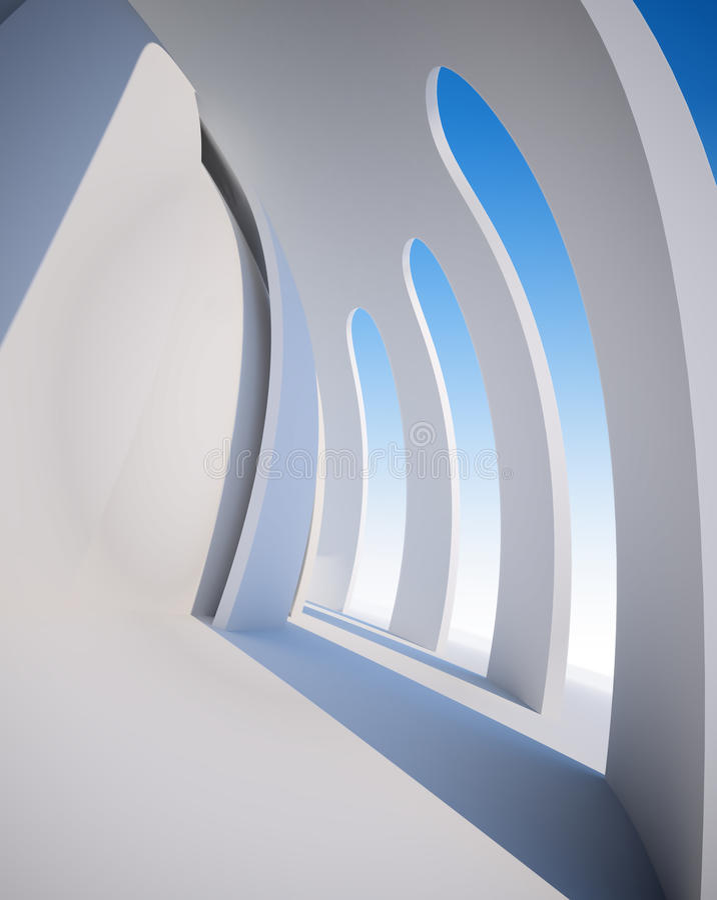 Architecure abstrait illustration de vecteur