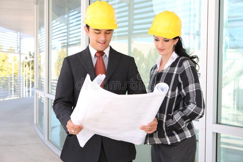 architektów budowy mężczyzna miejsca kobieta zdjęcia stock
