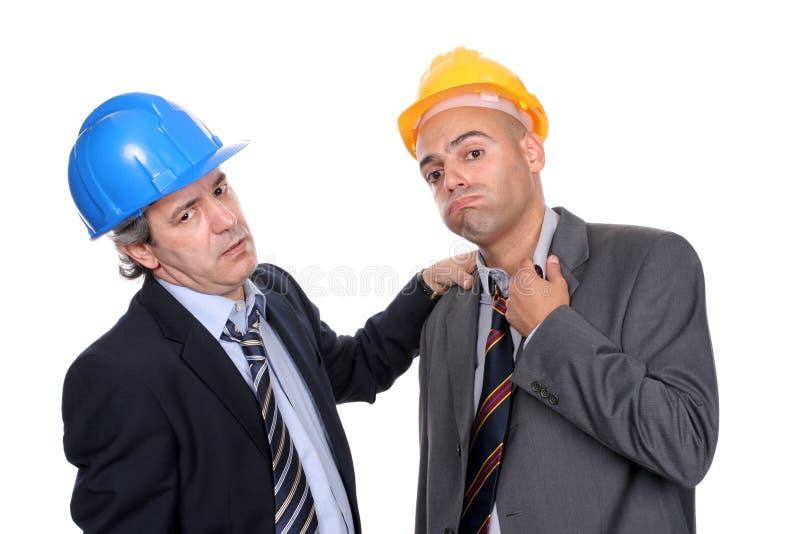 architektów dwa bardzo męczyli engineers obrazy stock