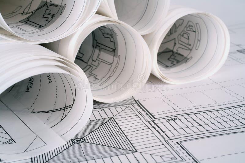 architektów plany obraz stock