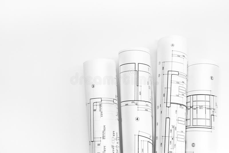 Architektów plany i rolki obrazy royalty free