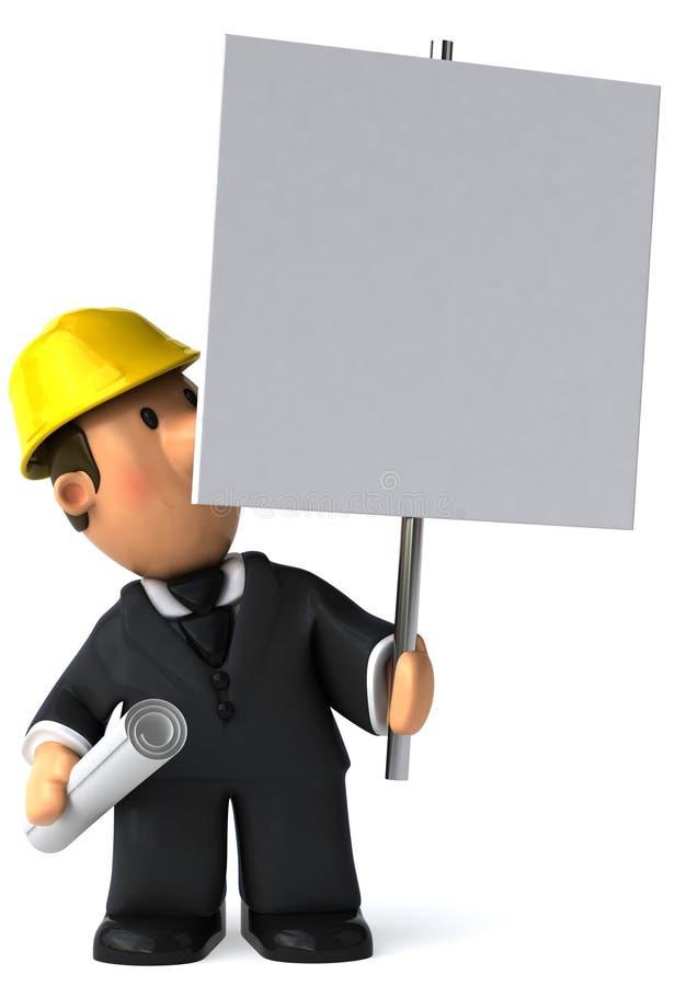 Download Architekt ilustracji. Ilustracja złożonej z beton, cieśla - 13337861